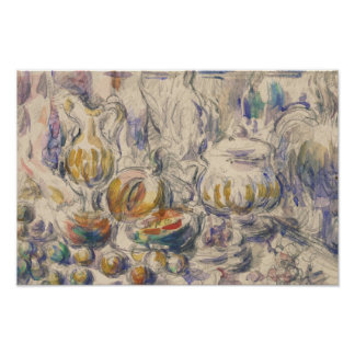Paul Cezanne - Pot and Soup Tureen Poster
