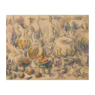 Paul Cezanne - Pot and Soup Tureen Wood Print