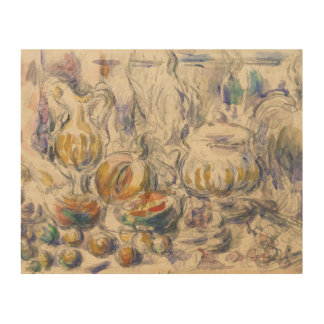 Paul Cezanne - Pot and Soup Tureen Wood Wall Decor