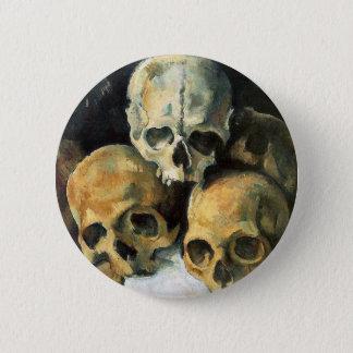 Paul Cézanne - Pyramid of Skulls Button