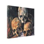 Paul Cezanne - Pyramid of Skulls Canvas Prints