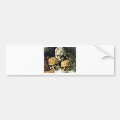 Paul Cézanne - Pyramid of Skulls Car Bumper Sticker