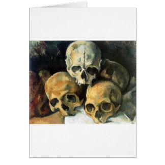 Paul Cézanne - Pyramid of Skulls Card