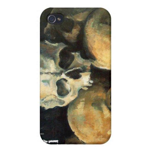 Paul Cezanne Pyramid of Skulls iPhone 4 Covers