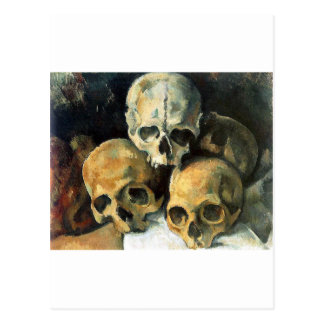 Paul Cézanne - Pyramid of Skulls Postcard
