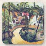 Paul Cezanne - Road bend Beverage Coaster