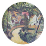 Paul Cezanne - Road bend Party Plates