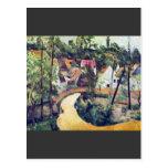 Paul Cezanne - Road bend Postcard