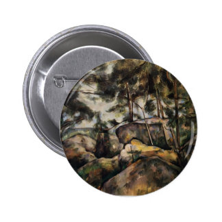 Paul Cezanne- Rocks at Fountainebleau Pinback Buttons