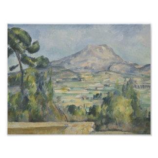 Paul Cezanne - Santo-Victoire de Montagne Cojinete