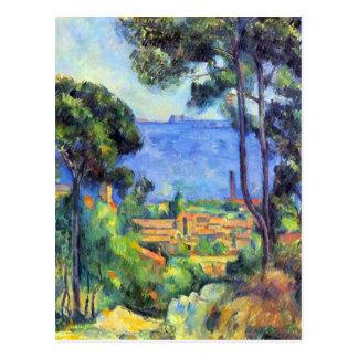 Paul Cezanne - scape de la tierra Tarjetas Postales