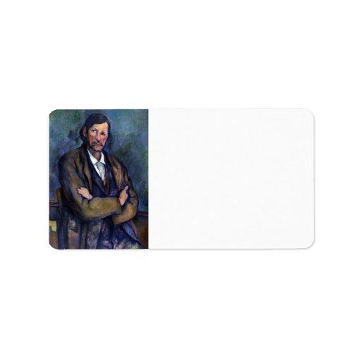 Paul Cezanne - Self Portrait Address Label