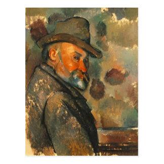 Paul Cezanne- Self-Portrait in a Felt Hat Postcard