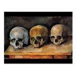 Paul Cézanne Skulls Postcard