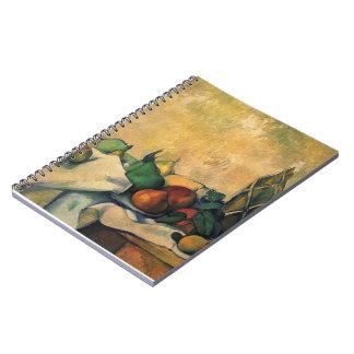 Paul Cezanne- Still life, bottle of rum Spiral Notebooks