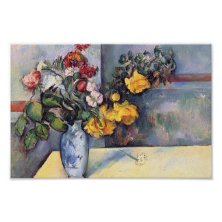 Paul Cezanne- Still Life Flowers in a Vase Poster