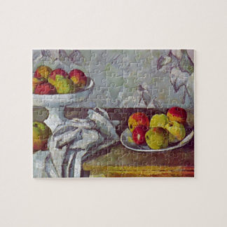 Paul Cezanne-Still life with apples and fruit bowl Jigsaw Puzzles