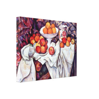 Paul Cezanne - Still Life with Apples and Oranges Canvas Print