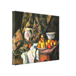 Paul Cezanne - Still life with apples and peaches Stretched Canvas Print