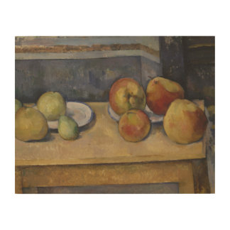 Paul Cezanne - Still Life with Apples and Pears Wood Wall Art