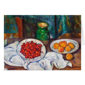 Paul Cezanne Still Life With Cherries And Peaches Stationery Note Card