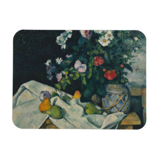 Paul Cezanne - Still Life with Flowers and Fruit Magnet