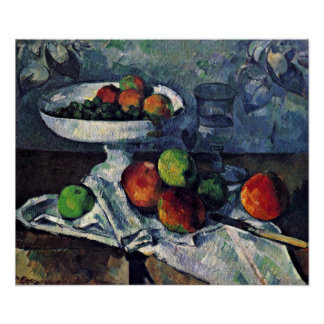Paul Cezanne - Still Life with Fruit Bowl Poster