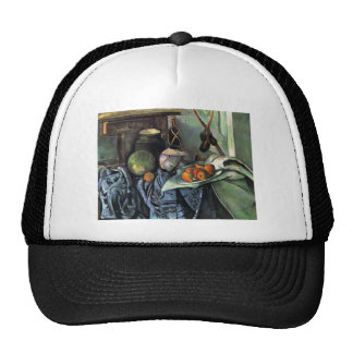 Paul Cezanne-Still Life with Ginger Jar,Eggplants Hats