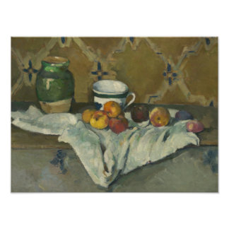Paul Cezanne - Still Life with Jar, Cup, and Apple Photo Print