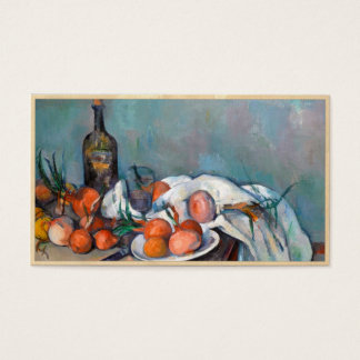 Paul Cézanne, Still Life with Onions and a Bottle Business Card