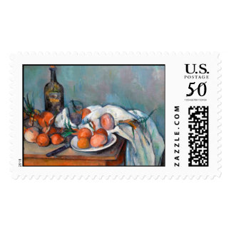 Paul Cézanne, Still Life with Onions and a Bottle Postage