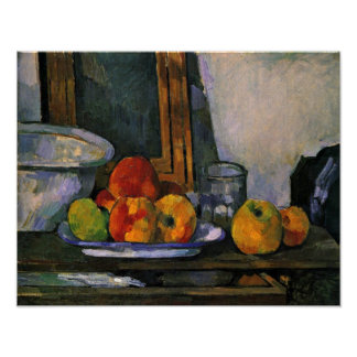 Paul Cezanne - Still life with open drawer Poster