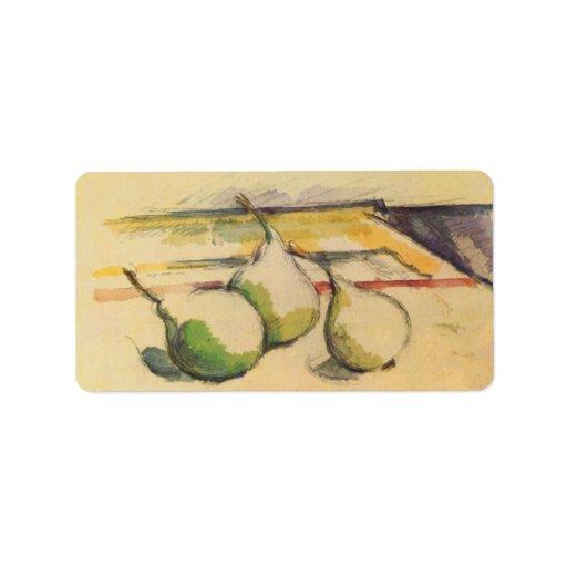 Paul Cezanne - Still life with Pears Custom Address Labels