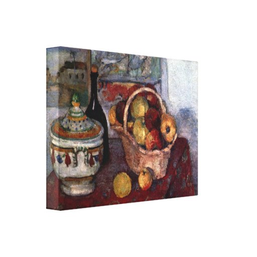 Paul Cezanne - Still life with soup tureen Canvas Prints