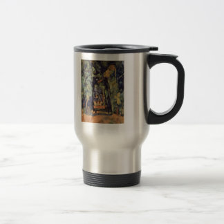 Paul Cezanne- The Alley at Chantilly 15 Oz Stainless Steel Travel Mug