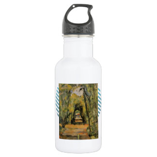Paul Cezanne- The Alley at Chantilly 18oz Water Bottle