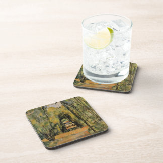 Paul Cezanne- The Alley at Chantilly Beverage Coaster