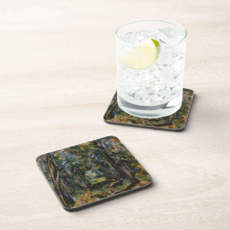 Paul Cezanne- The Alley at Chantilly Beverage Coasters