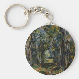 Paul Cezanne- The Alley at Chantilly Keychains
