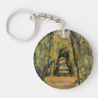 Paul Cezanne- The Alley at Chantilly Acrylic Key Chains