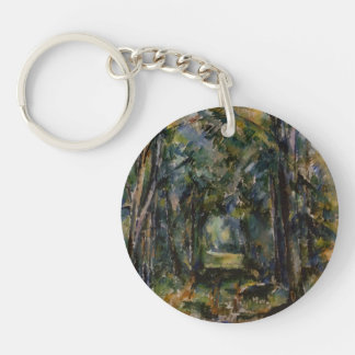 Paul Cezanne- The Alley at Chantilly Acrylic Key Chain