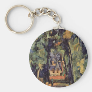 Paul Cezanne- The Alley at Chantilly Key Chains