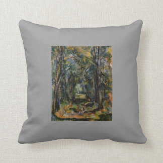 Paul Cezanne- The Alley at Chantilly Pillows