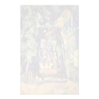 Paul Cezanne- The Alley at Chantilly Custom Stationery