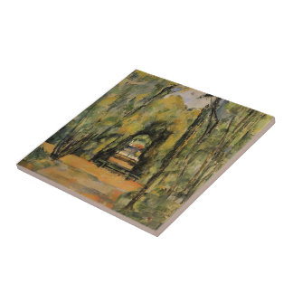 Paul Cezanne- The Alley at Chantilly Ceramic Tiles