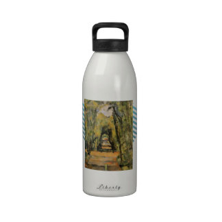 Paul Cezanne- The Alley at Chantilly Reusable Water Bottle