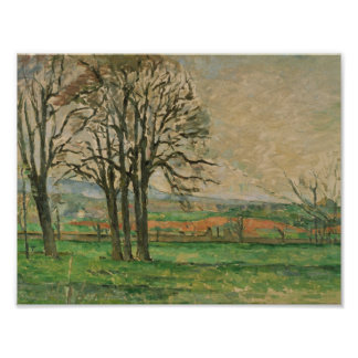 Paul Cezanne - The Bare Trees at Jas de Bouffan Poster