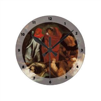 Paul Cezanne-The Barque of Dante (after Delacroix) Clock