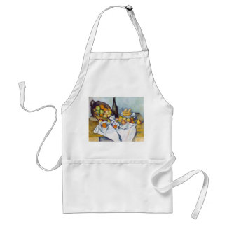 Paul Cézanne The Basket of Apples painting art Adult Apron