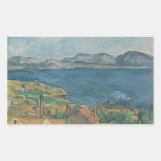 Paul Cézanne - The Bay of Marseilles Rectangular Sticker